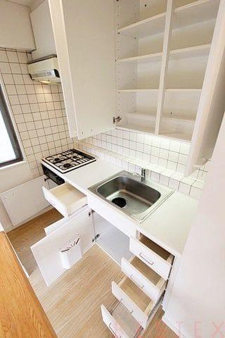 キッチン収納豊富