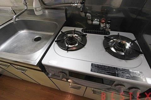 ガス2口キッチン