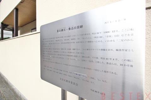夏目漱石旧居跡