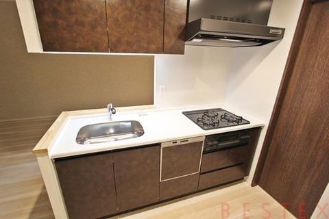 食洗機完備ガスシステムキッチン