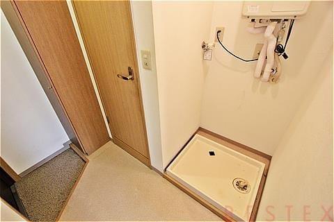 洗濯機置場も室内置き